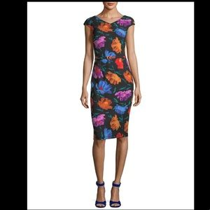 David Meister | Cap Sleeve Floral Sheath Dress 10